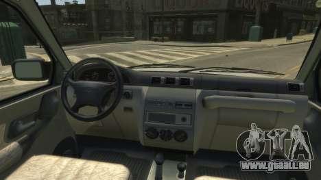 UAZ Patriot Pickup v.2.0 pour GTA 4 Vue arrière