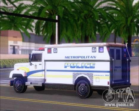 Enforcer Metropolitan Police für GTA San Andreas rechten Ansicht