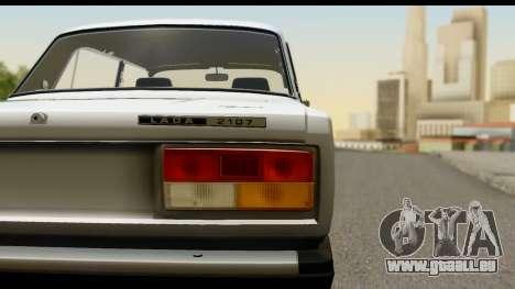 VAZ 2107 Flux pour GTA San Andreas sur la vue arrière gauche