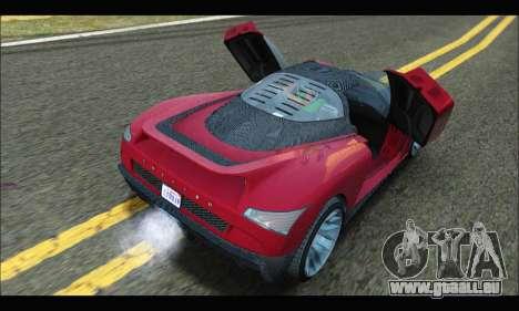 Grotti Cheetah v3 (GTA V) (SA Mobile) pour GTA San Andreas vue de droite