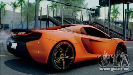 McLaren 650S Spider 2014 pour GTA San Andreas sur la vue arrière gauche
