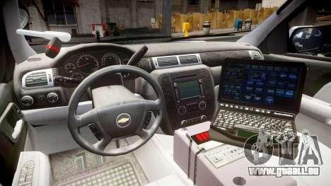 Chevrolet Tahoe 2010 Police Alderney [ELS] für GTA 4 Rückansicht