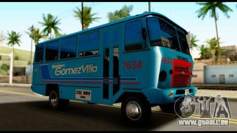 Chevrolet Bus pour GTA San Andreas vue de droite