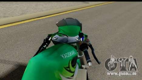 Kawasaki Ninja R Drag pour GTA San Andreas sur la vue arrière gauche