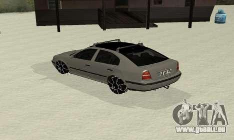 Skoda Octavia Winter Mode für GTA San Andreas zurück linke Ansicht