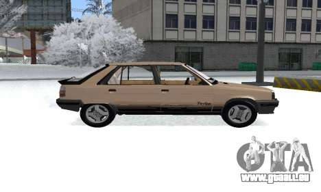 Renault 11 Turbo Phase I 1984 pour GTA San Andreas sur la vue arrière gauche