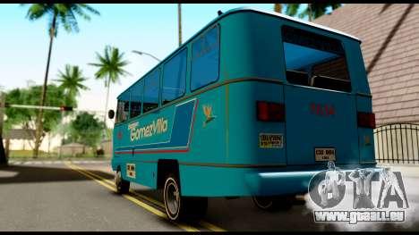 Chevrolet Bus pour GTA San Andreas laissé vue