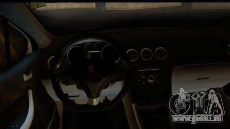 Peugeot 308 ENS Tuning für GTA San Andreas Rückansicht