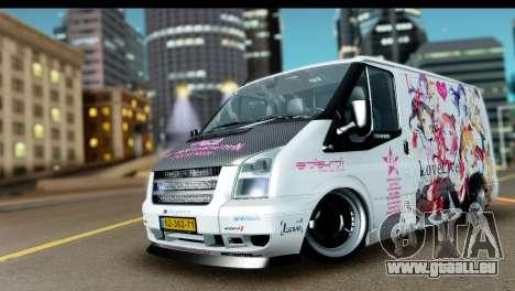 Ford Transit SWB Love Live pour GTA San Andreas