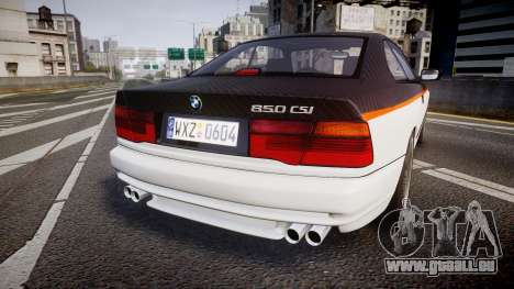 BMW E31 850CSi 1995 [EPM] Carbon pour GTA 4 Vue arrière de la gauche