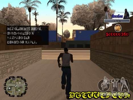 C-HUD Bomj Gang pour GTA San Andreas deuxième écran