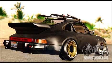 Porsche 911 1980 Winter Release für GTA San Andreas zurück linke Ansicht