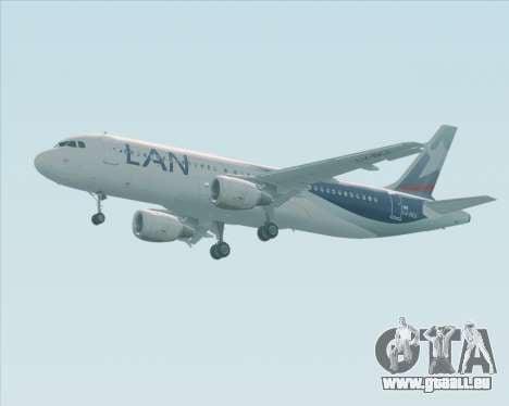 Airbus A320-200 LAN Argentina pour GTA San Andreas vue arrière