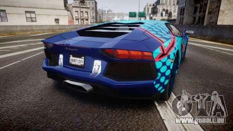 Lamborghini Aventador 2012 [EPM] Miku 3 pour GTA 4 Vue arrière de la gauche