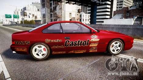 BMW E31 850CSi 1995 [EPM] Castrol Red pour GTA 4 est une gauche