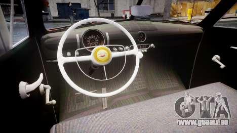 Ford Custom Tudor 1949 pour GTA 4 est une vue de l'intérieur