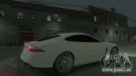 Jaguar XK v.2.0 pour GTA 4 est une vue de l'intérieur