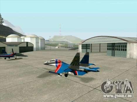 SU-30 MK 2 für GTA San Andreas Rückansicht