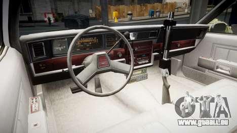 Chevrolet Impala 1985 LCPD [ELS] pour GTA 4 Vue arrière