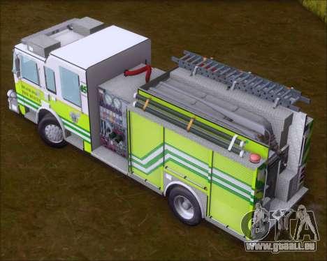 Pierce Arrow XT Miami Dade FD Engine 45 pour GTA San Andreas vue intérieure
