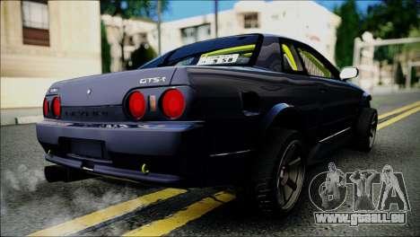 Nissan Skyline GT-S R32 pour GTA San Andreas sur la vue arrière gauche