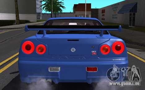 Nissan Skyline GT-R V Spec II 2002 für GTA San Andreas Motor