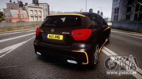 Mersedes-Benz A45 AMG PJs4 pour GTA 4 Vue arrière de la gauche