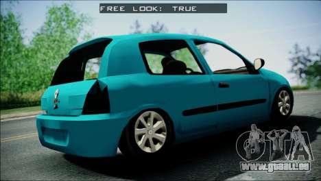 Renault Clio Beta v1 für GTA San Andreas zurück linke Ansicht