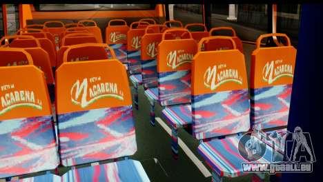 Dodge Ram Microbus pour GTA San Andreas sur la vue arrière gauche