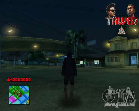 C-HUD Tawer By Flocky pour GTA San Andreas troisième écran