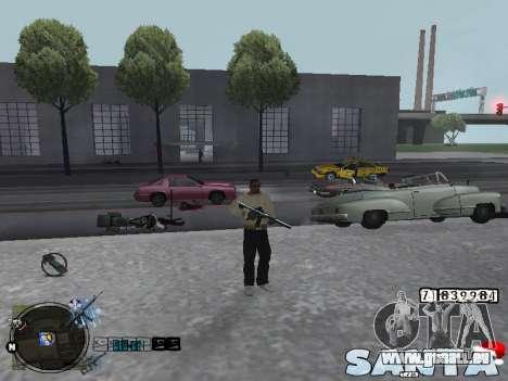 C-HUD Santa pour GTA San Andreas deuxième écran