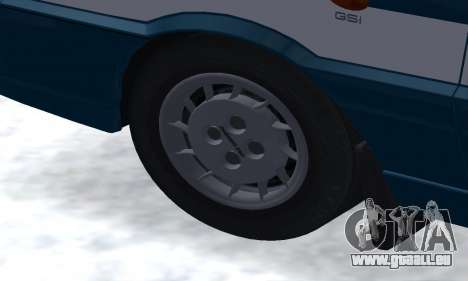 Daewoo-FSO Polonez Kombi 1.6 GSI Police 2000 pour GTA San Andreas vue de dessous