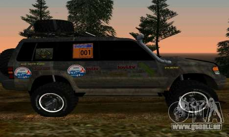 Mitsubishi Pajero Off-Road pour GTA San Andreas laissé vue