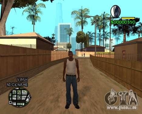 C-HUD by Tawerhudov für GTA San Andreas dritten Screenshot