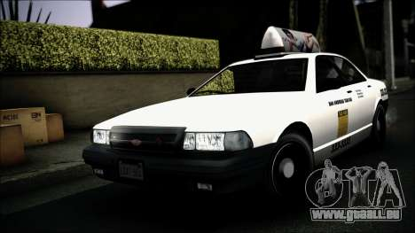 Taxi Vapid Stanier II from GTA 4 IVF für GTA San Andreas obere Ansicht