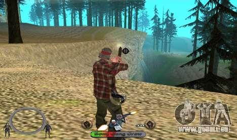 C-HUD BomjGang für GTA San Andreas zweiten Screenshot