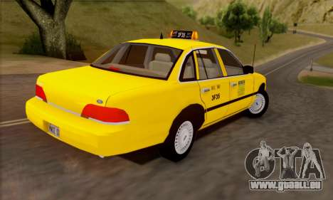 Ford Crown Victoria NY Taxi pour GTA San Andreas vue intérieure