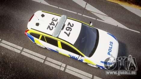 Volvo V60 Swedish Police [ELS] für GTA 4 rechte Ansicht