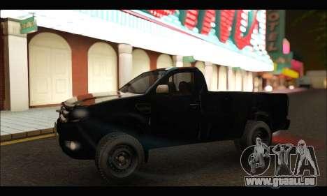 Ford Ranger Cabina Simple 2013 pour GTA San Andreas laissé vue