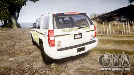 Chevrolet Tahoe 2010 Police Alderney [ELS] für GTA 4 hinten links Ansicht