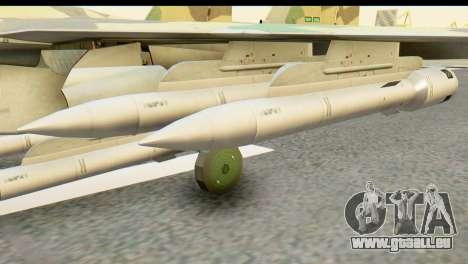 SU-35 Flanker-E ACAH pour GTA San Andreas sur la vue arrière gauche
