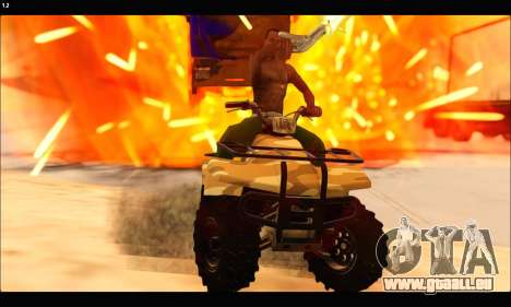 ATV Army Edition v.3 pour GTA San Andreas vue intérieure