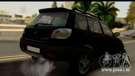 Mitsubishi Outlander pour GTA San Andreas laissé vue