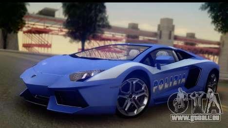 Lamborghini Aventador für GTA San Andreas obere Ansicht