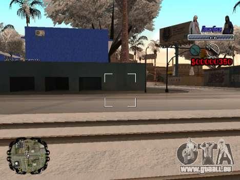C-HUD Bomj Gang pour GTA San Andreas cinquième écran