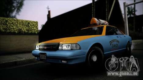 Taxi Vapid Stanier II from GTA 4 IVF für GTA San Andreas