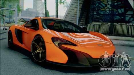 McLaren 650S Spider 2014 pour GTA San Andreas vue de droite
