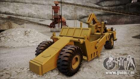 Caterpillar 631D pour GTA San Andreas laissé vue