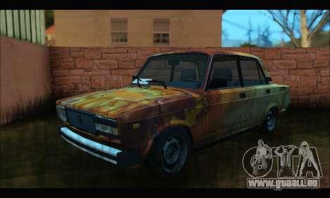 VAZ 2107 Rouillé pour GTA San Andreas