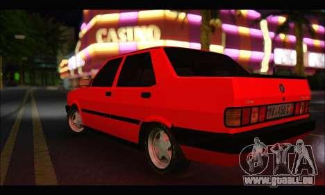 Tofas Dogan SLX Metalist (Arch Enemy) pour GTA San Andreas sur la vue arrière gauche